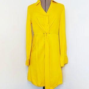 Very J Mustard Casual Dress Size S